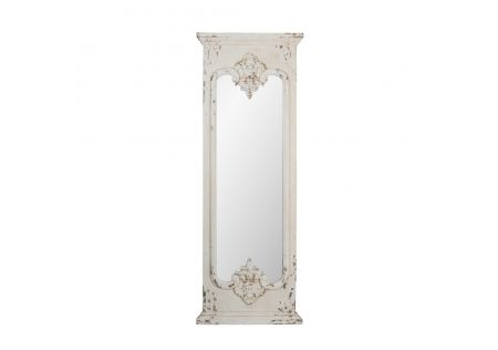 Luna Distressed White Mirror