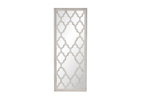Maria Distressed White Mirror