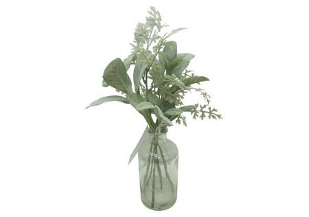 Isabelle Bouquet with Glass Pot