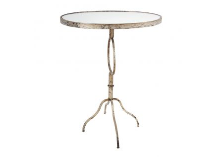Gold Oval Side Table