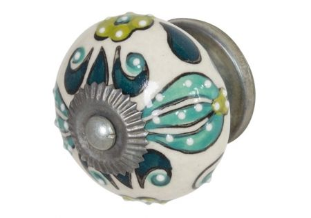 Hand Painted Ceramic Door Knob Jungle – Set of 2