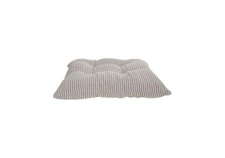 Striped Seat Cushions with Ties in Chocolate