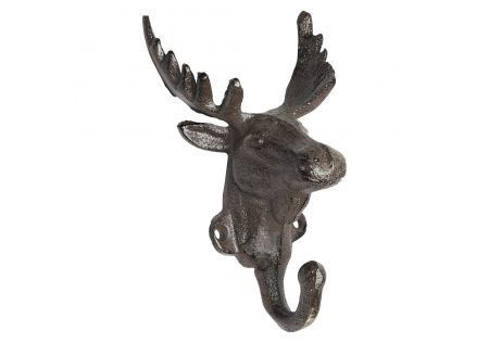 Iron Hook Stag Head