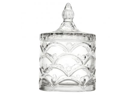 Jackie Glass Trinket Jar with Lid
