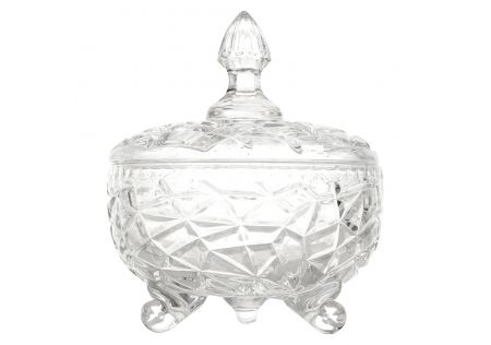 Renee Glass Trinket Jar with Lid