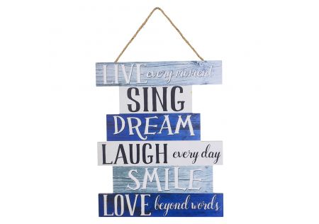 Inspirational Wood Hanging Wall Sign