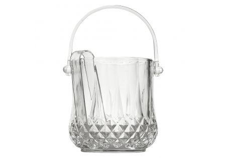 Ana Glass Ice Bucket with Tongs