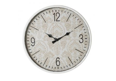 Charme Glass Front Round Metal Wall Clock