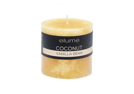 Elume Coconut Vanilla Bean Pillar Candle 3x3