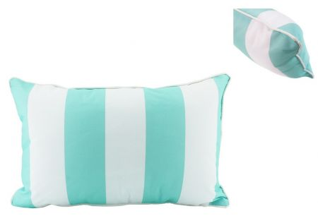 Mint Stripe Lumbar Cushion