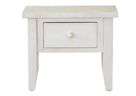 Florence Lamp Table | Ivory Florence Lamp Table | Florence Lamp Table with 1 Drawer | Florence Lamp Table Side View