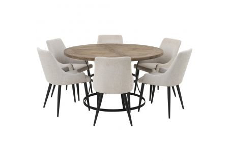 Newcastle 1400 Dining Package with Nomad Beige Chairs
