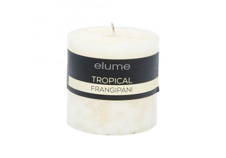Elume Tropical Frangipani Pillar Candle 3x3