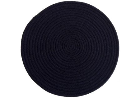 Round Woven Placemat Navy Blue