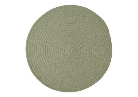 Round Woven Placemat Steel