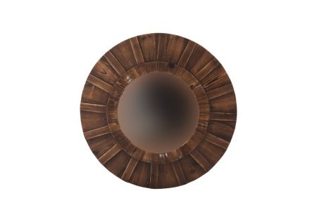 Elgin Round Timber Mirror