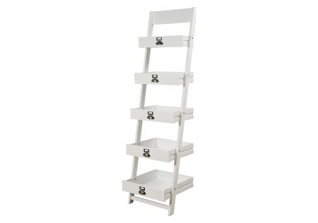 5 Tier Rustic Timber Leaning Shelf