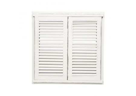 Sun Valley Shutter Mirror Antique White