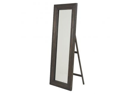 Forbes Timber Mirror Dark Brown