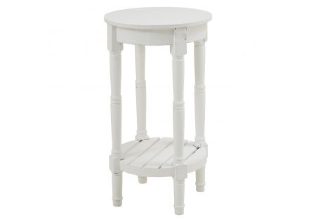Preston Accent Table White