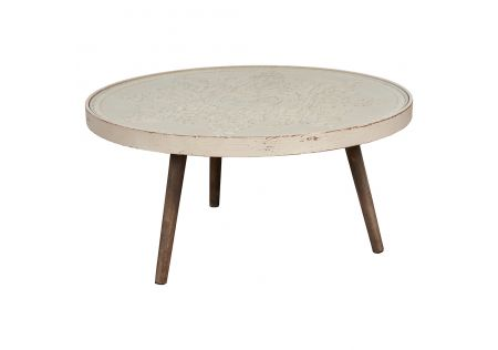 Corliss Round Timber Low Table