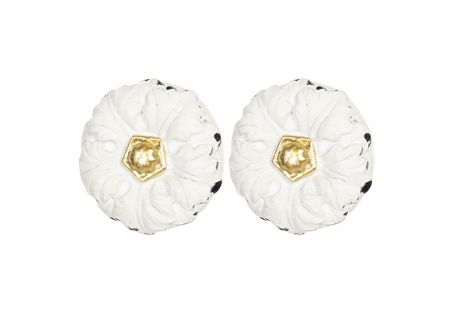 Resin Door Knob White - Set of 2