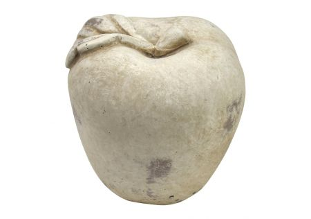 Apple Cement Sculpture Ivory