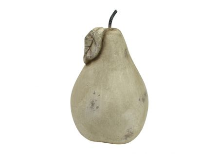 Pear Cement Sculpture Ivory