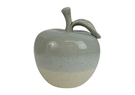 Apple Ceramic Sculpture Grey/White