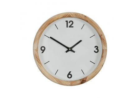 Alma Wood Clock Natural/White