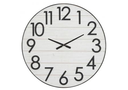 Caldwell MDF Clock White/Black