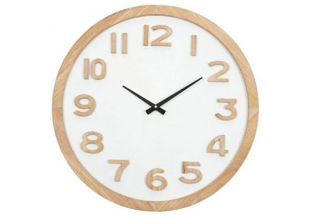 Wallace MDF Clock Natural/White