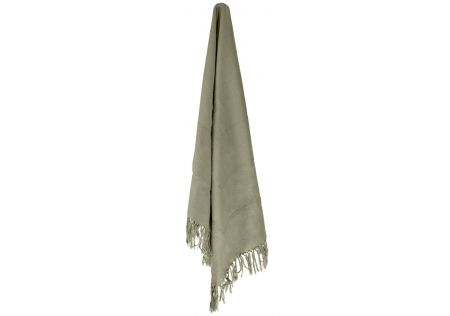 Cotton Combed Throw Green Knot Fringed
