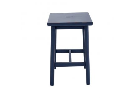Sallys Square Stool Indigo Blue