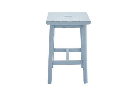 Sallys Square Stool Duckegg Blue