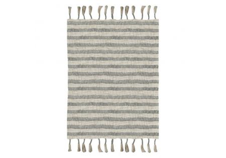 Hunter Handwoven Cotton Slub Printed Throw