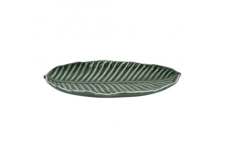 Cer Leaf Serving Platter Small