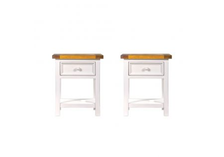 Tuscan Bedside Table with 1 Drawer - Set of 2