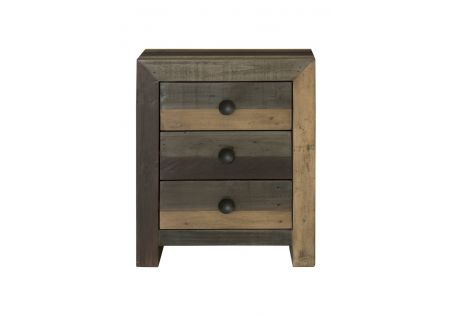 Vintage Bedside Table Multi/Grey