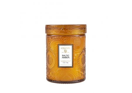 Voluspa Baltic Amber Glass Candle with Lid