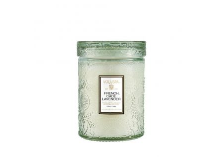 Voluspa French Cade & Lavender Glass Candle with Lid