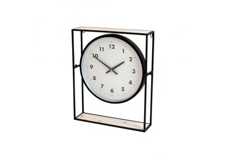 Elan Timber & Iron Mantel Clock