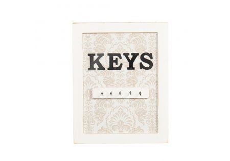 Charme Wall Sign with Key Hooks