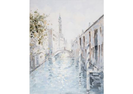 Venetian Canals Oil Painting