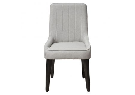 Sergio Dining Chair Light Grey with Black Legs