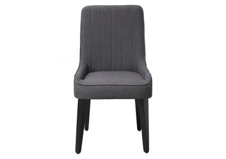 Sergio Dining Chair Charcoal with Black Legs