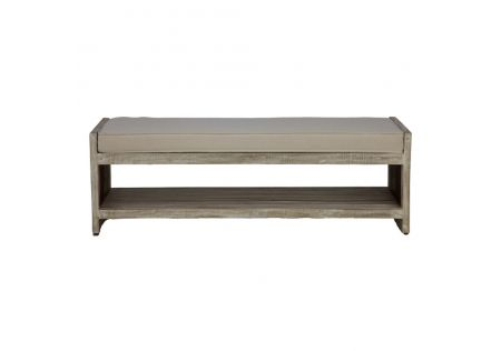 Hawaii Bed End Bench Driftwood/Grey Wash - ONLINE ONLY