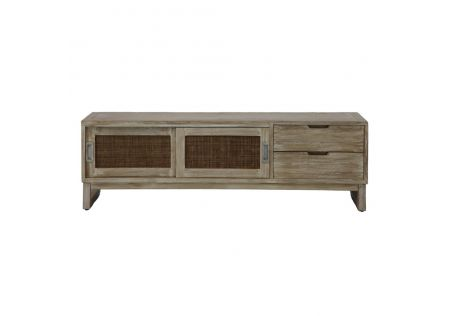 Hawaii TV Unit Driftwood/Grey Wash - ONLINE ONLY