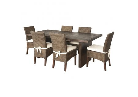 Portland 2000 Dining Table & 6x Pebble Beach Rattan Dining Chairs