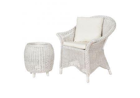 Bega Rattan Chair with Cushion & Side Table